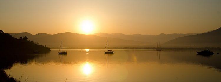 Zachód słońca w Fethiye