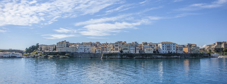 Widok na miasto Korfu